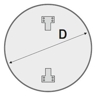 Схема круглой подосновы