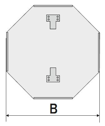 Схема восьмиугольной подосновы